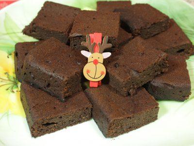 Brownies cioccolatoso e senza zucchero