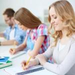 Students having written exam